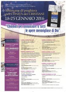 Locandina Settimana Ecumenica